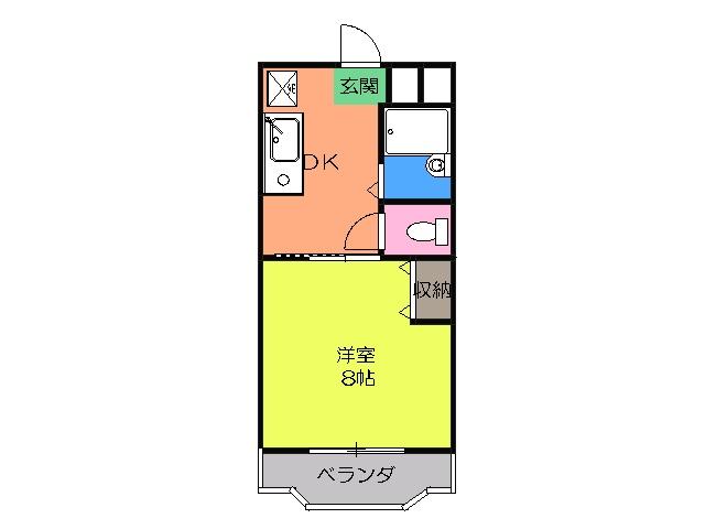 キャッスルトキオⅡ・302号室の間取り