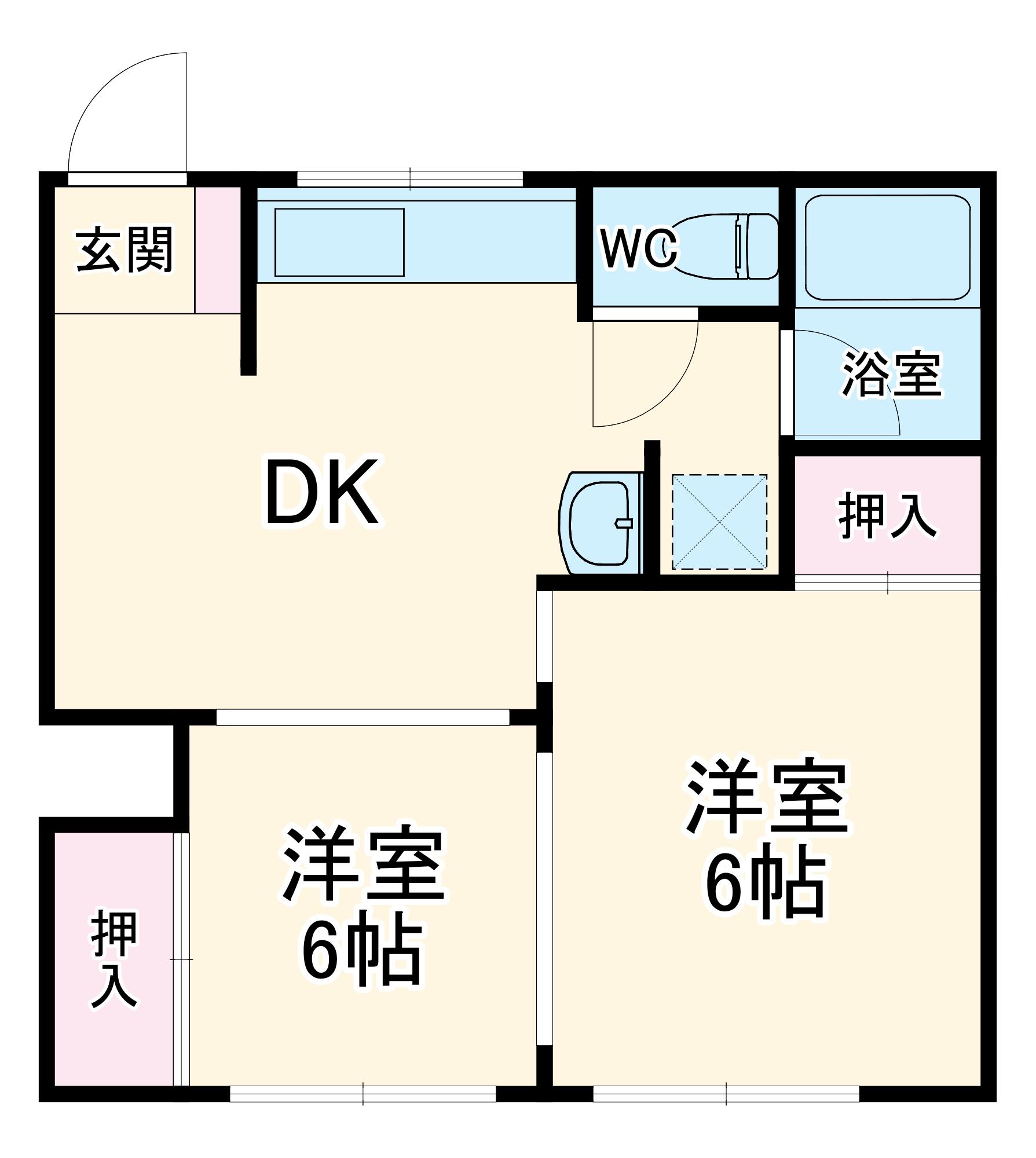 金徳マンション・103号室の間取り