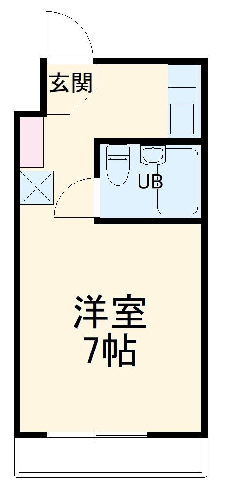 宮野木マンション・203号室の間取り