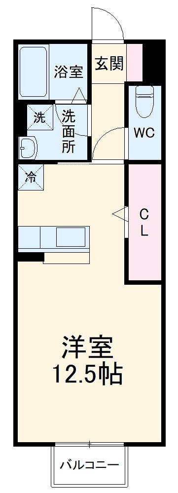 エスポワール緑が丘・111号室の間取り