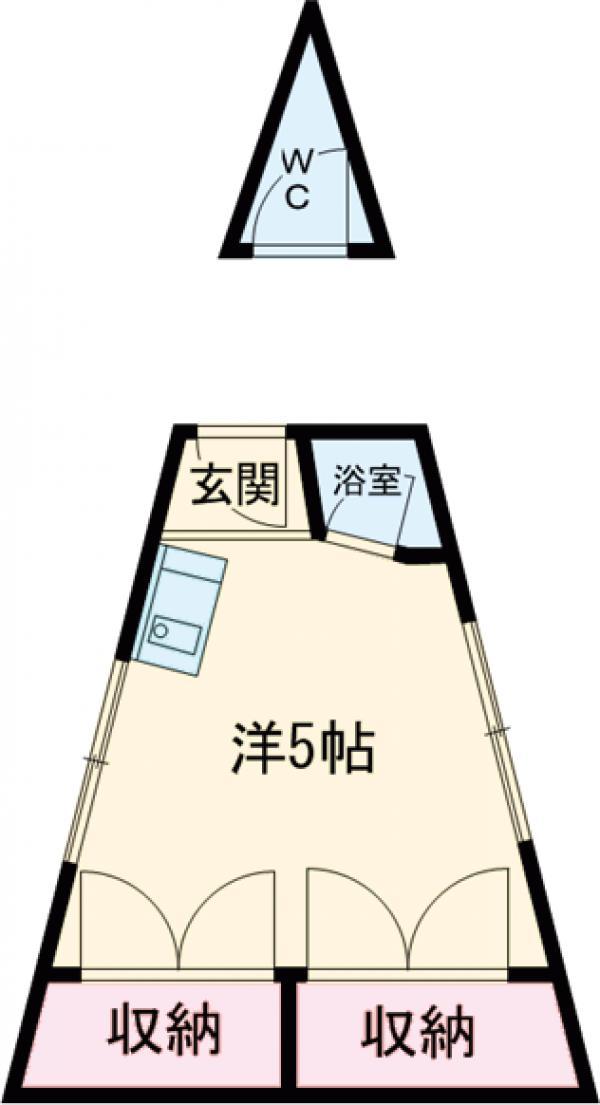 練馬三角ビル・4F号室の間取り