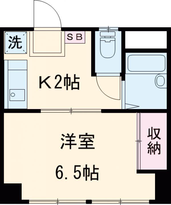 栄町第3レジデンス・101号室の間取り