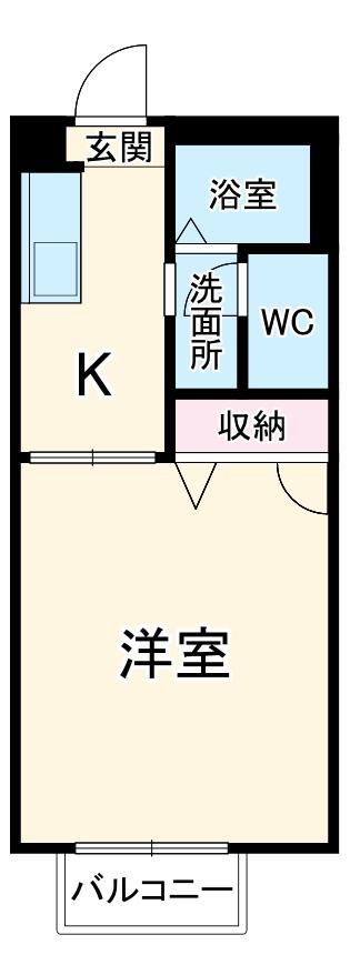 シャルム マノワール・B-102号室の間取り