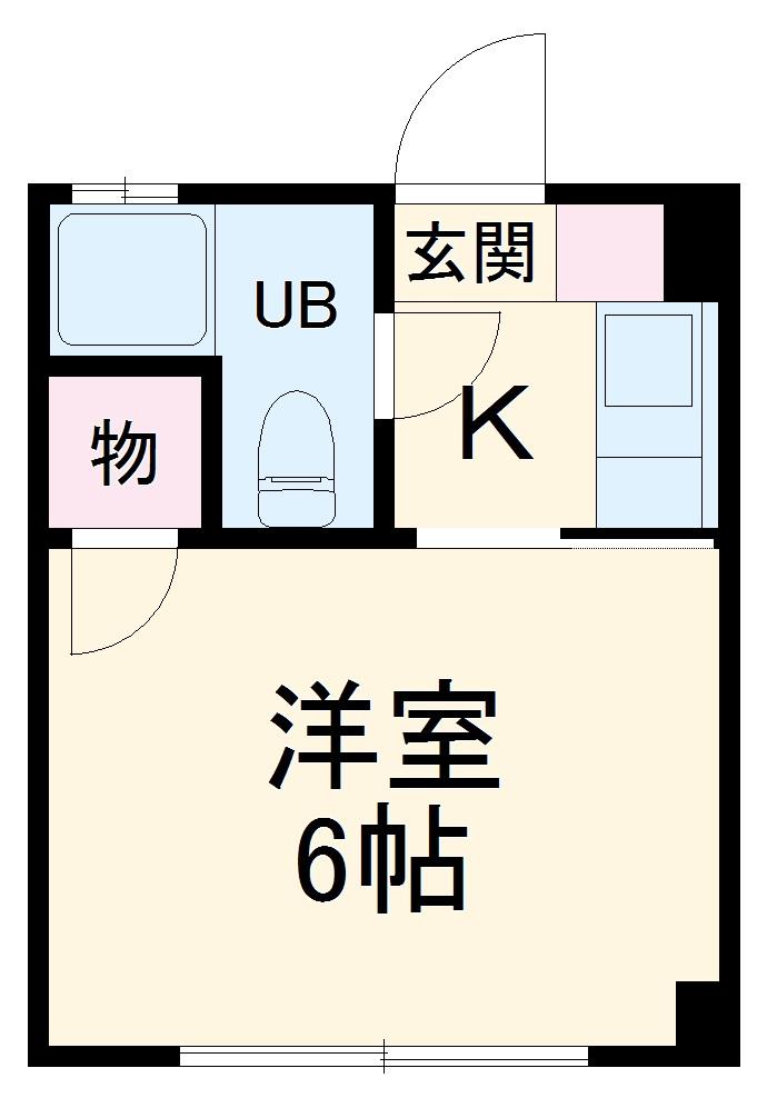 川秀ビル・B-2号室の間取り