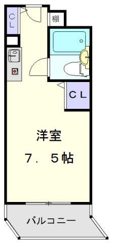 パソテイト覚王山・203号室の間取り