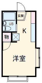 ホワイトビラ笹野台・103号室の間取り