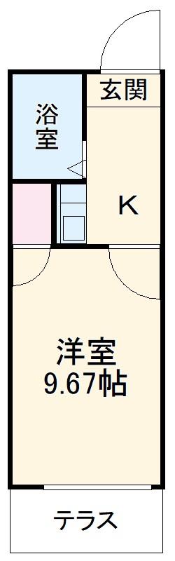 レオパレス平田橋・202号室の間取り