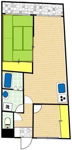 ファミーユ桜ヶ丘・310号室の間取り