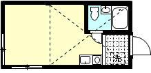 ラサ国分寺B館 205号室の間取り