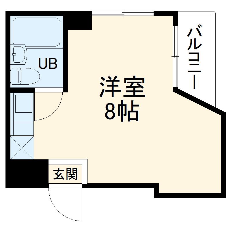 ホワイトハウス新栄・5D号室の間取り