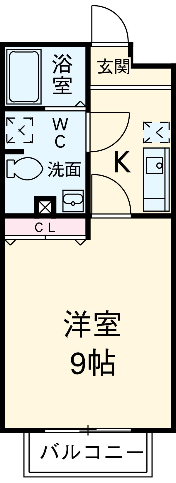 アムール MOTOMACHI 201号室の間取り