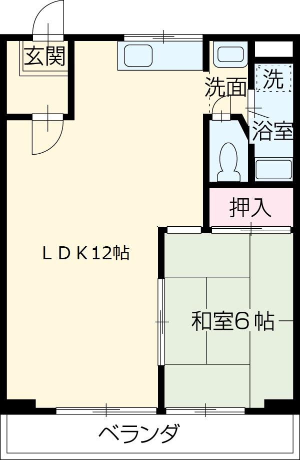 メゾンSⅡ・3C号室の間取り