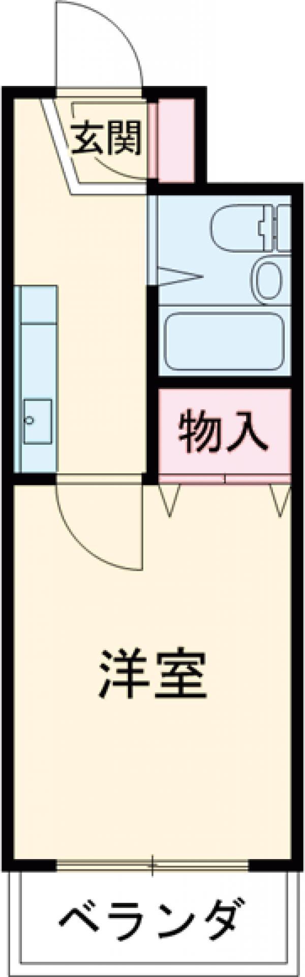 メビウスair 3-C号室の間取り