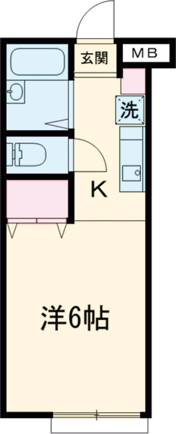 レインボーアップル・103号室の間取り