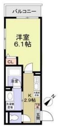 パルトネール横浜二俣川A・204号室の間取り