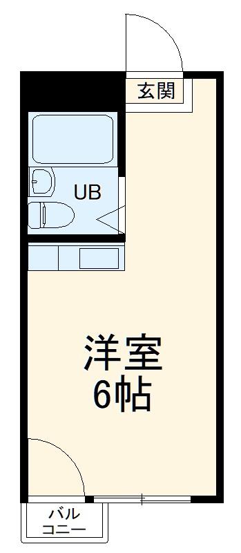 ユーユープラザビル・4B号室の間取り
