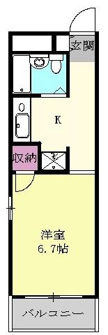ハートイン広路・4B号室の間取り