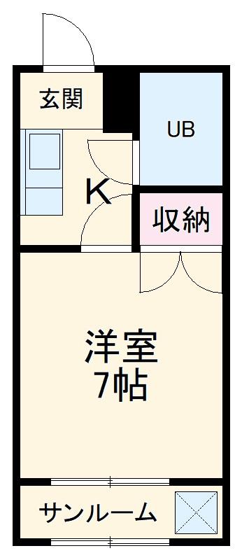 新清洲クラウンビル・408号室の間取り
