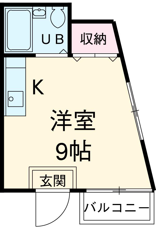 加藤コーポ新栄・3B号室の間取り