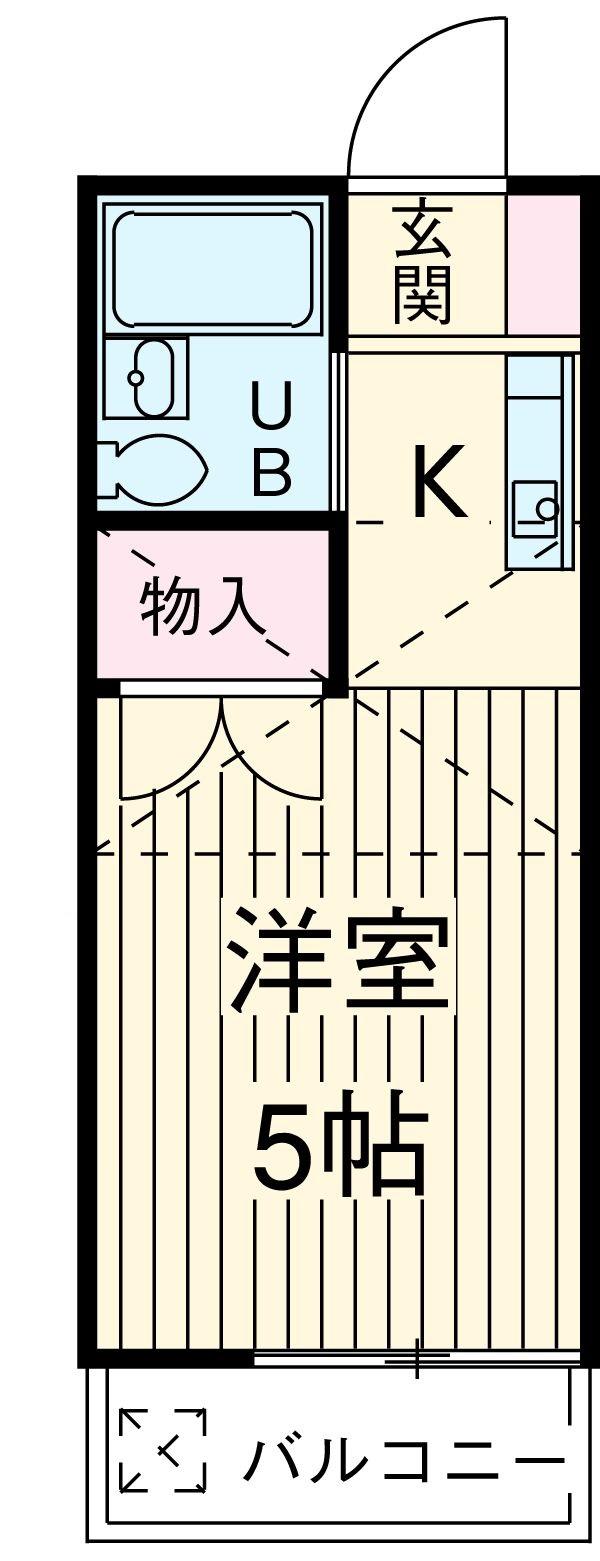 エスタ国分寺弐番館 105号室の間取り