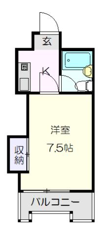 ハートイン本山・3B号室の間取り
