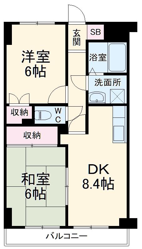 YMDⅢマンション 407号室の間取り
