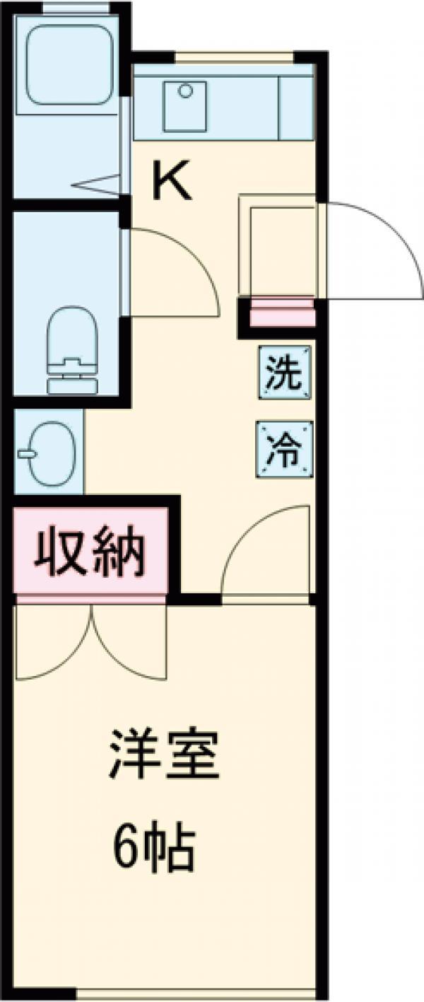 サンハウス伊東Ⅱ・203号室の間取り