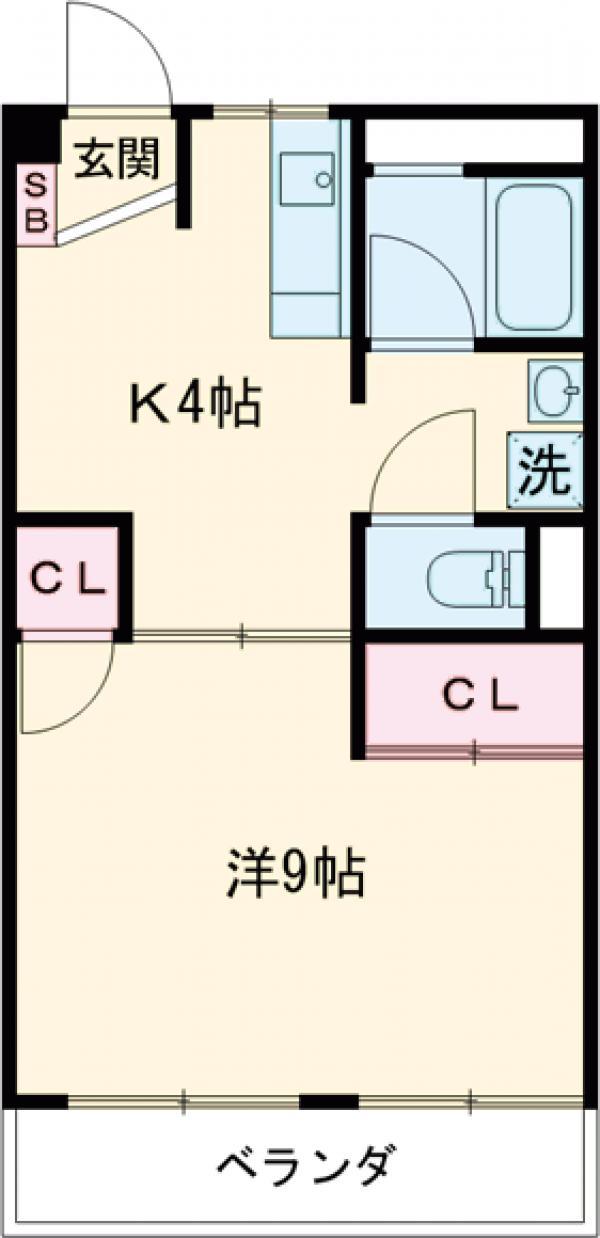 東元町第一マンション・305号室の間取り