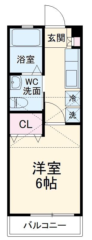 ロワール伊勢宿・105号室の間取り