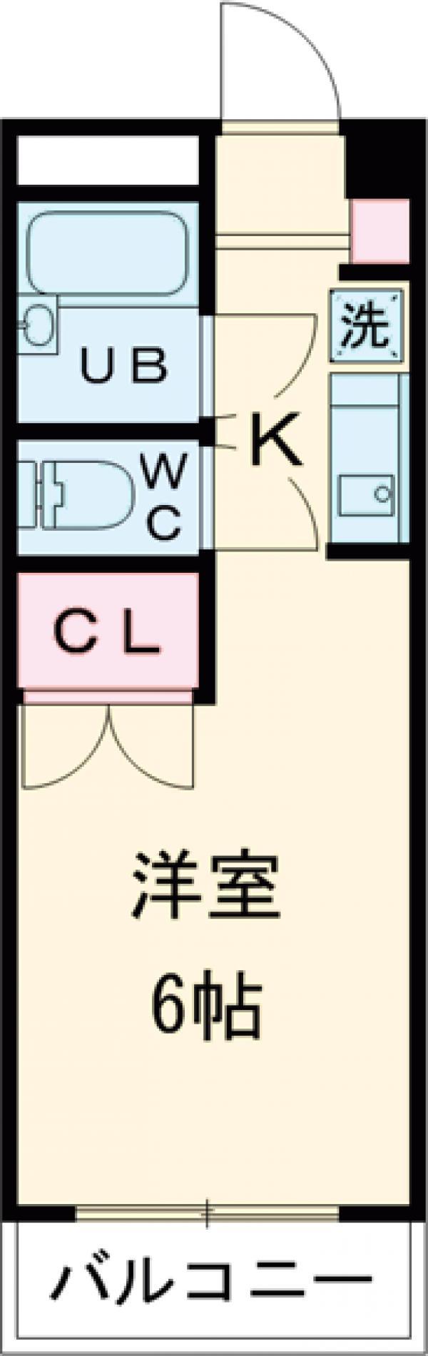 シュガーハイツ南大沢B・111号室の間取り