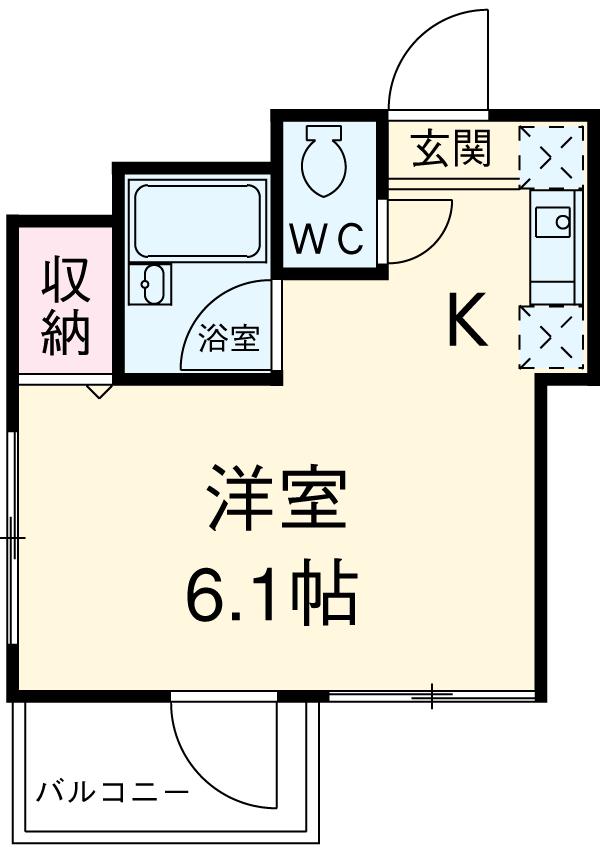第6千代鶴ビル 306号室の間取り