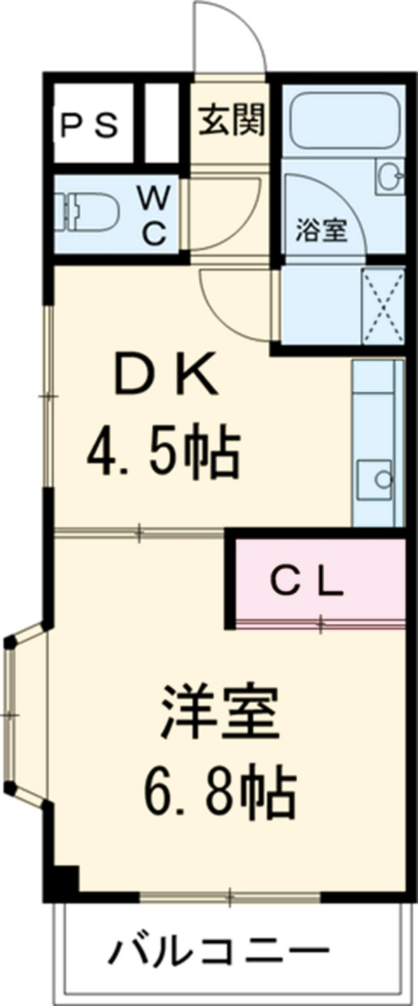 ビルディング栄・401号室の間取り