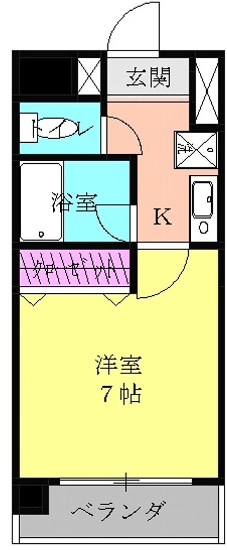 アメニティ泉 7A号室の間取り