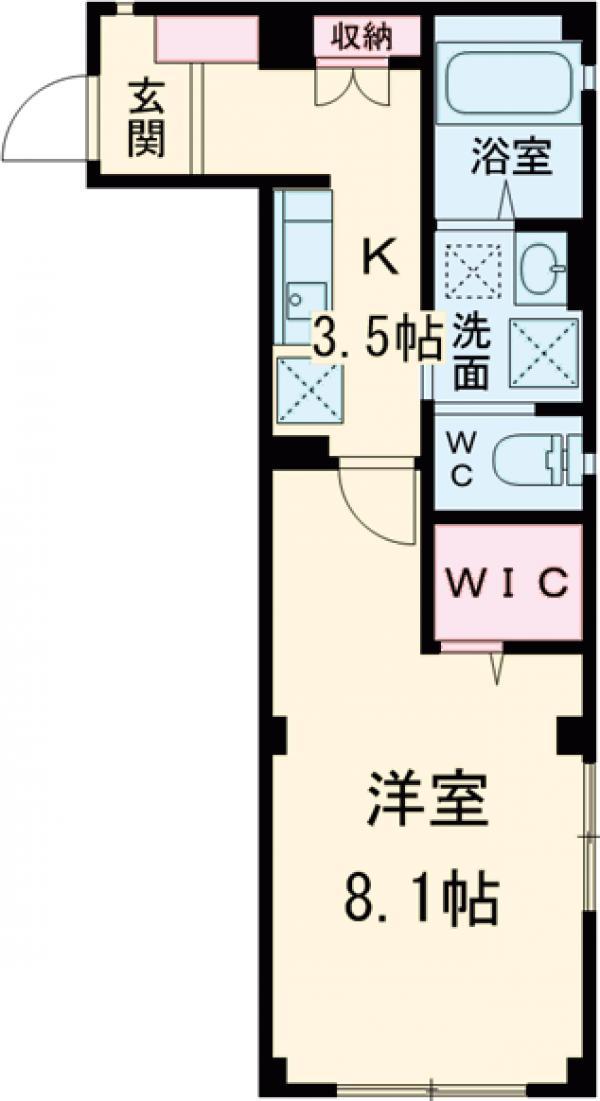 La Luce Komazawa・105号室の間取り