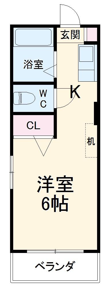 富士レイホービル第5・205号室の間取り