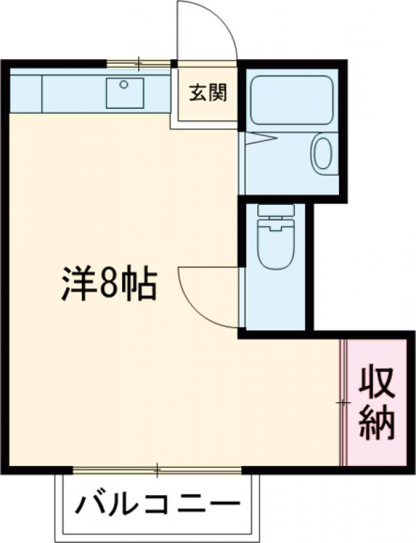 ポルシェ聖蹟桜ヶ丘Ⅱ・208号室の間取り