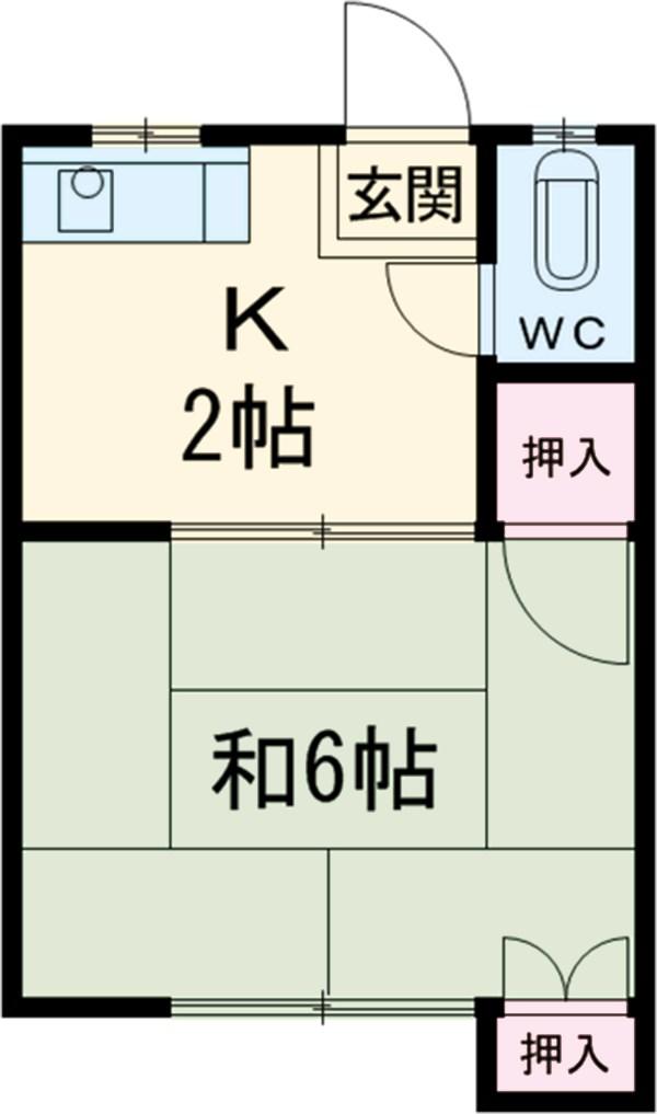 三ツ井荘・10号室の間取り
