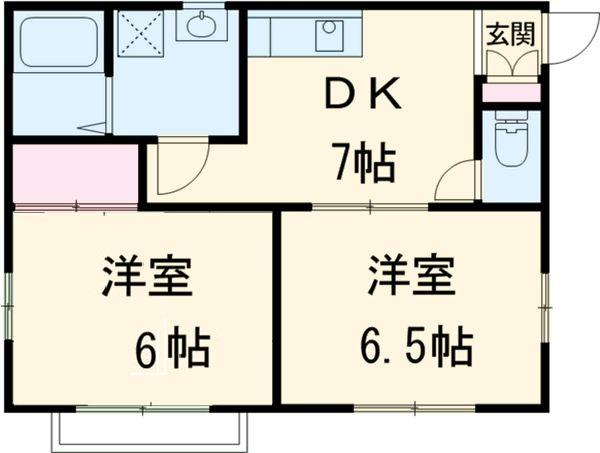 レクセル上和田1番館・101号室の間取り