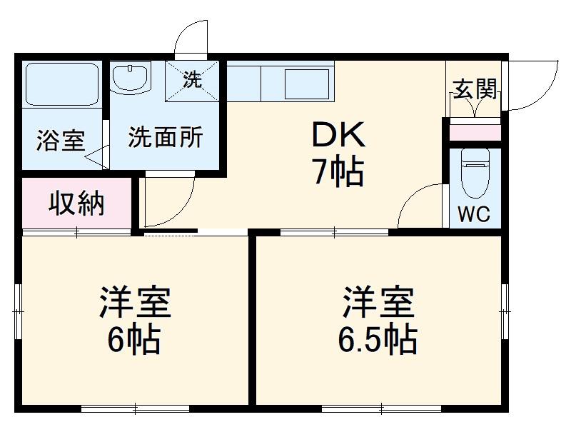 レクセル上和田2番館・101号室の間取り