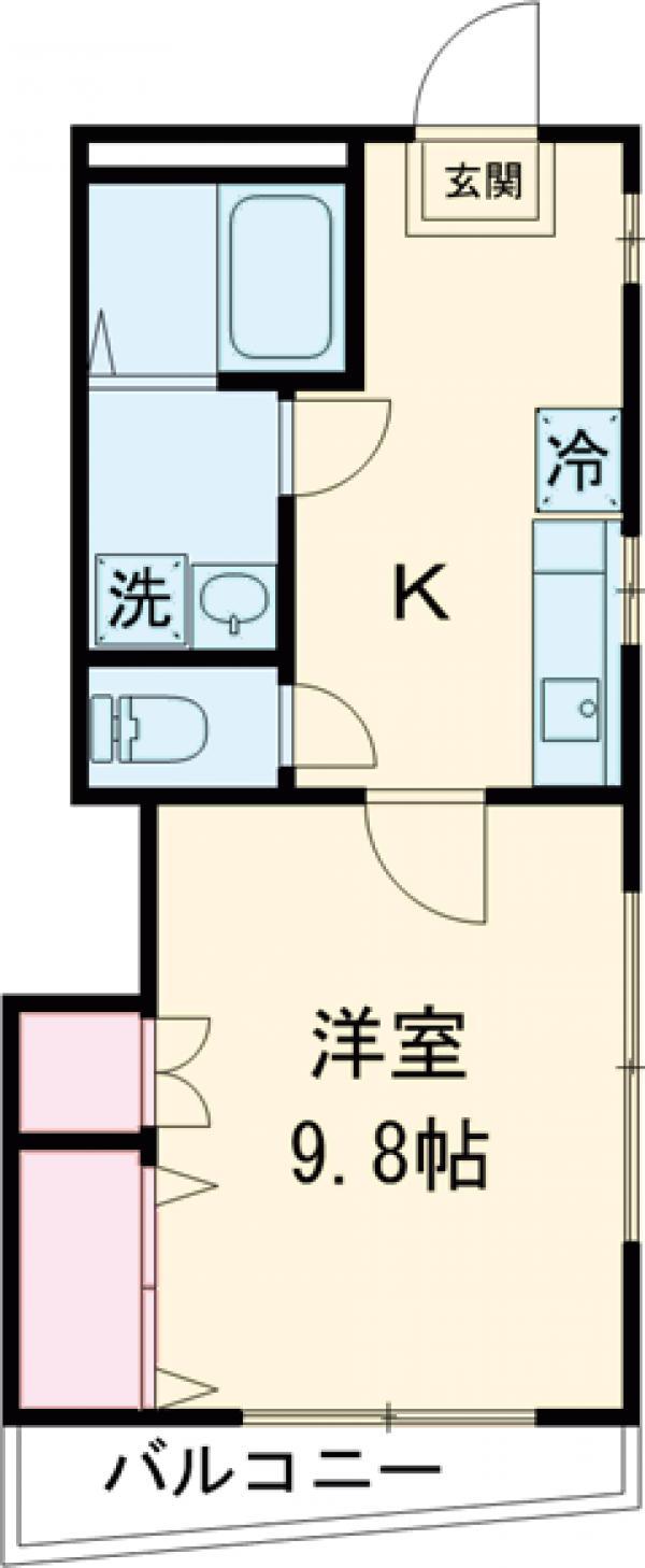 坂井コーポ 208号室の間取り