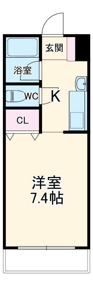 アメニティ覚王山・203号室の間取り