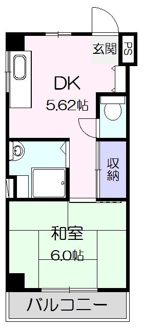 青山ビル・405号室の間取り