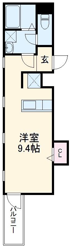 TRIUMPH名駅・202号室の間取り