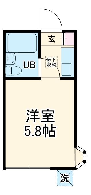 アップルハウス鶴間 101号室の間取り