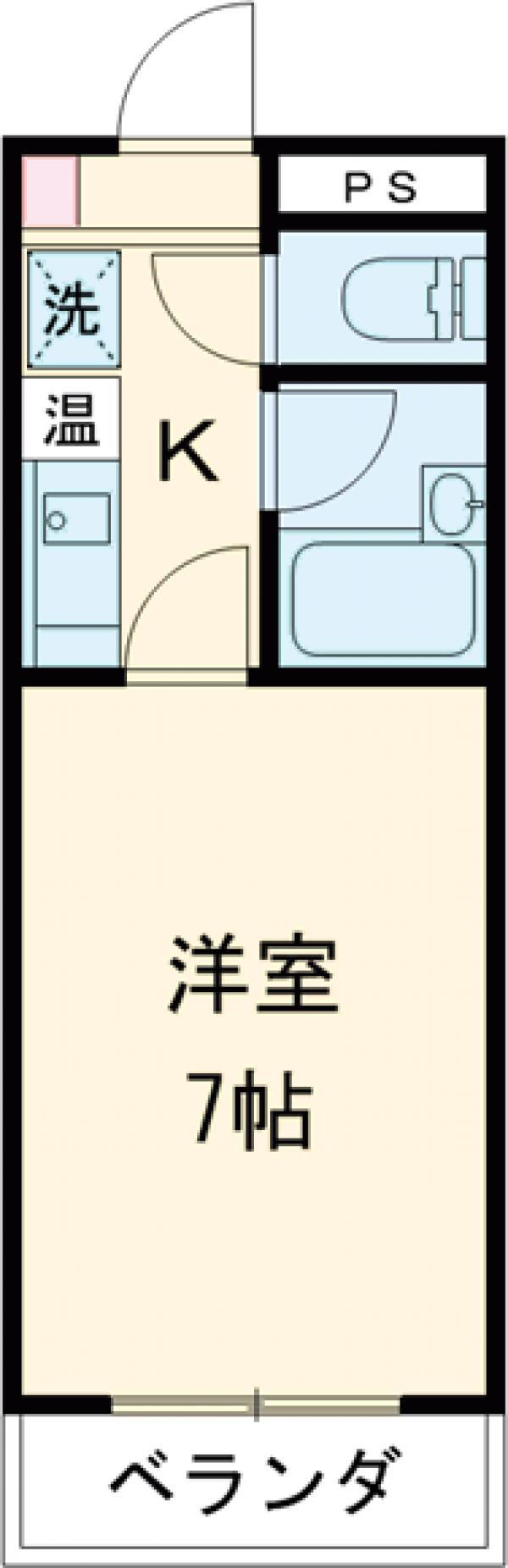 大塚堰場ハイツ・117号室の間取り