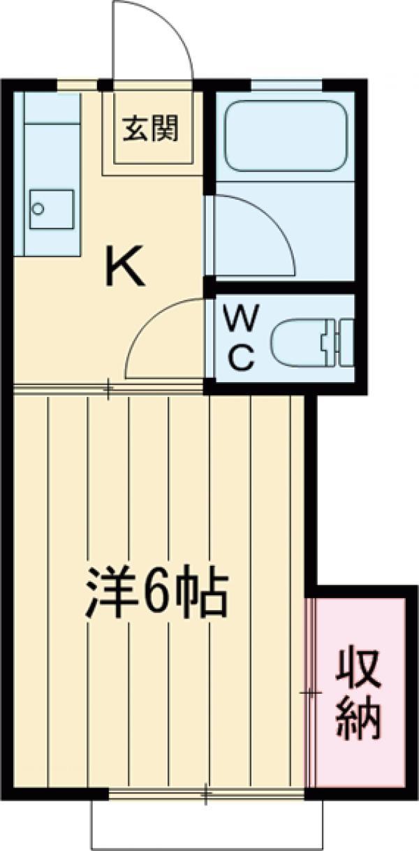 カツザワコーポB・102号室の間取り
