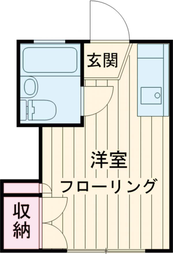 UトピアA棟・A103号室の間取り