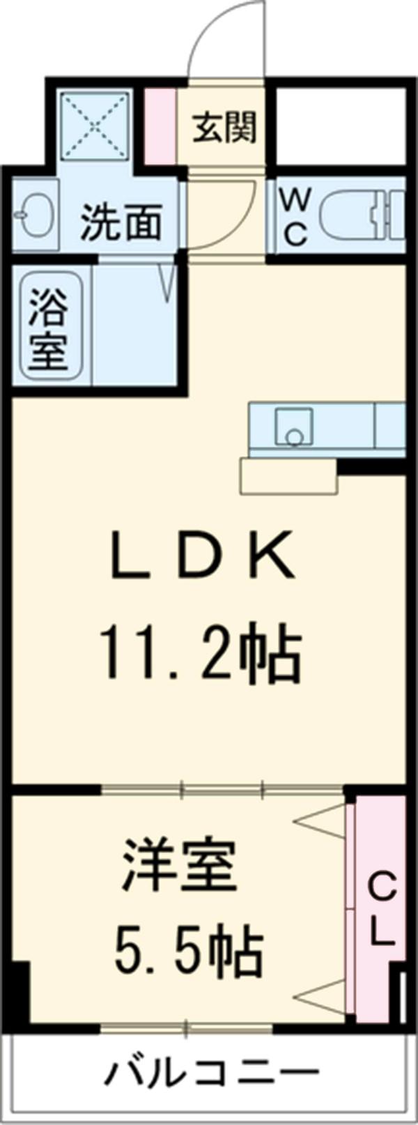 グランディール横浜・103号室の間取り