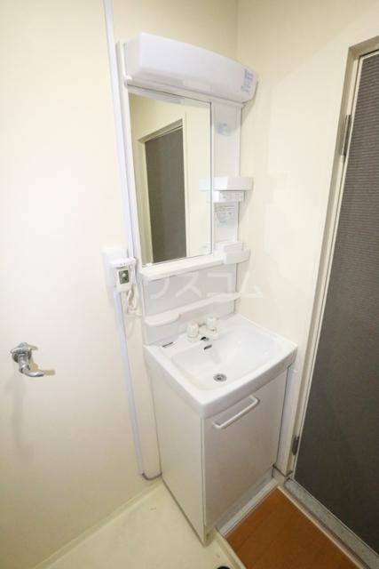 第二フタムラビル 302号室の洗面所