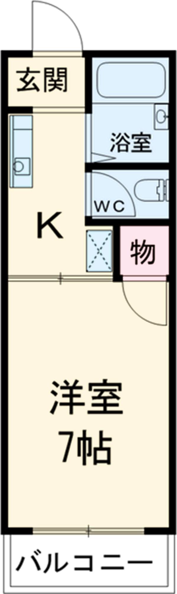 サンクレスト覚王山・207号室の間取り